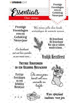Stempel Prettige Feestdagen NL teksten – StudioLight