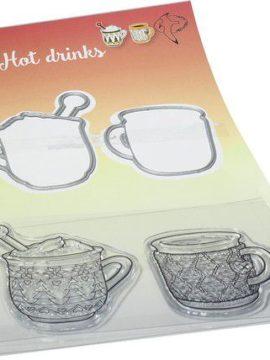 Stempel & Snijmal set Warme dranken – Marianne Design